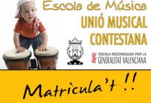Se abre la matriculación de la escuela de música de la Unió Musical Contestana
